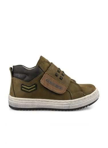 Cici Bebe Ayakkabı Deri Erkek Çocuk Bot Yeşil